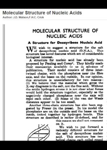 Watson y Crick_first page article
